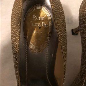 Rene Caovilla Gold Pumps